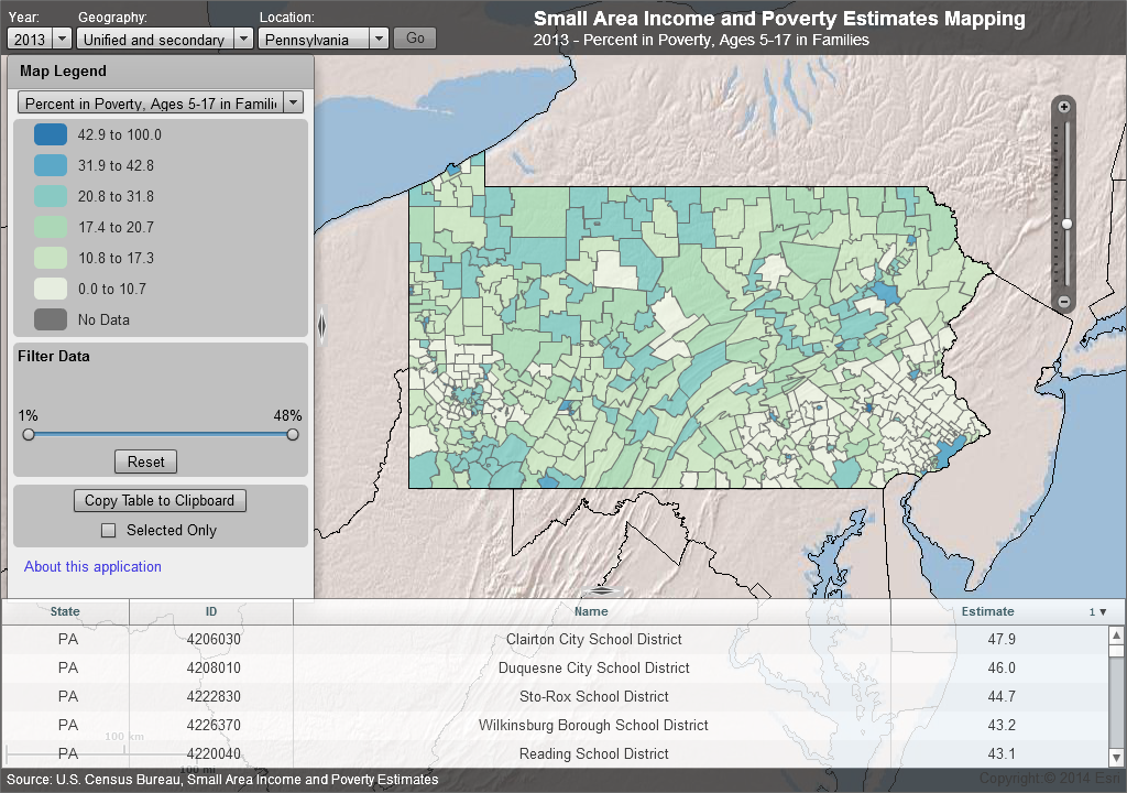 School District Poverty map